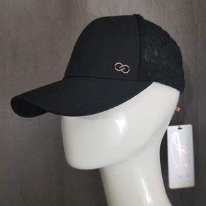 Calia Scroll Embroidery Cap OSFA black